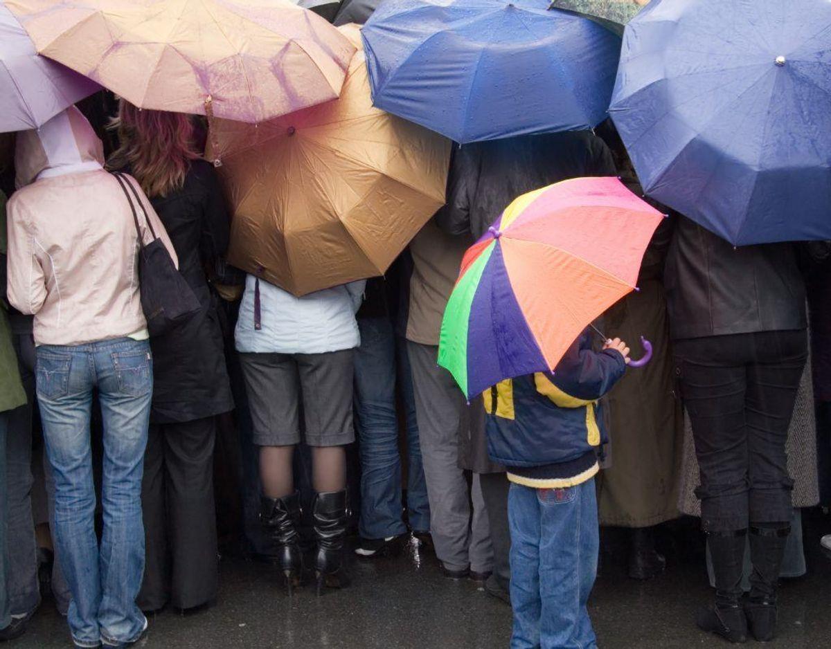De omtalte stoffer findes også i regntøj og udesko. Genrefoto.