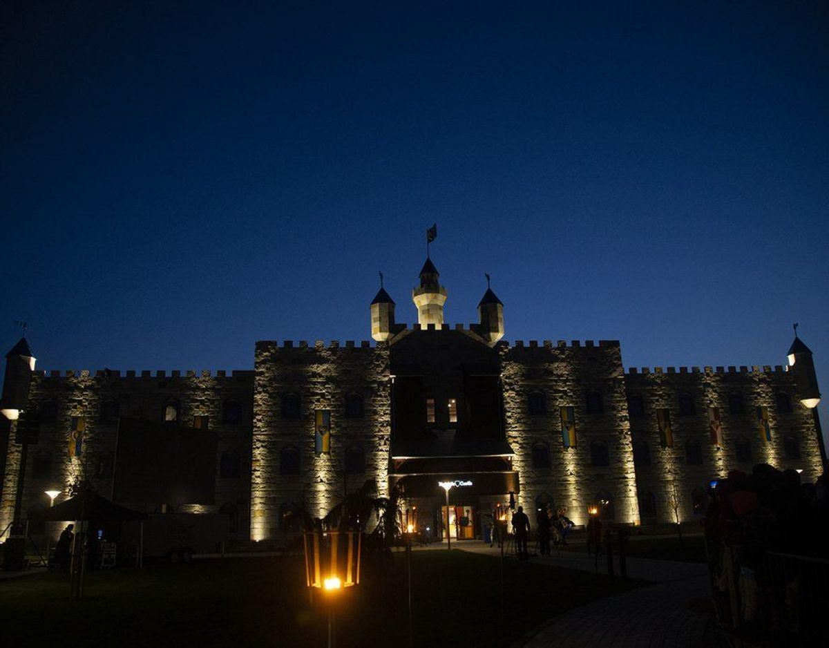 Et nyt eventyr tematiseret hotel, Legoland Castle Hotel, blev fredag indviet i Billund. Foto: René Lind Gammelmark