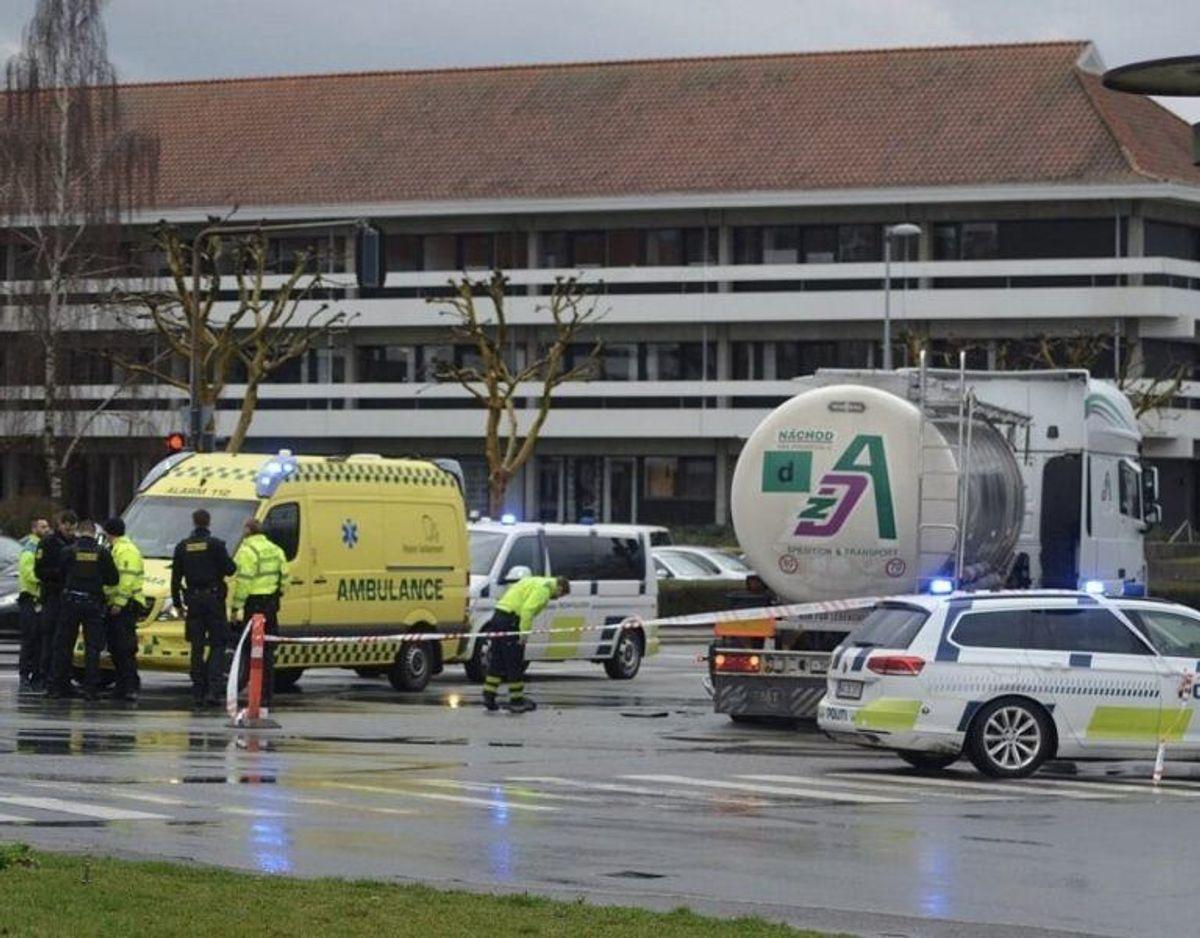 Kvinden blev dræbt i en ulykke om eftermiddagen, 7. marts. Foto: Presse-fotos.dk.