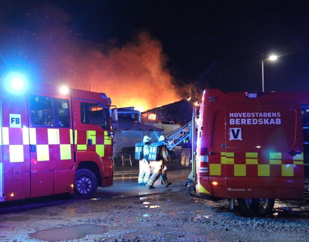 Anmeldelsen om branden indløb 02.51. Foto: Presse-fotos.dk.
