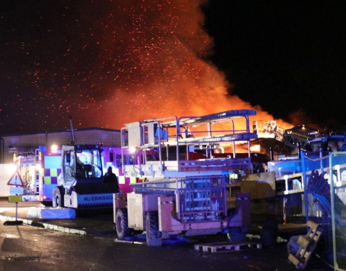 Ingen mennesker var i fare, eller kom noget til, i forbindelse med branden. Foto: Pressefotos.dk.