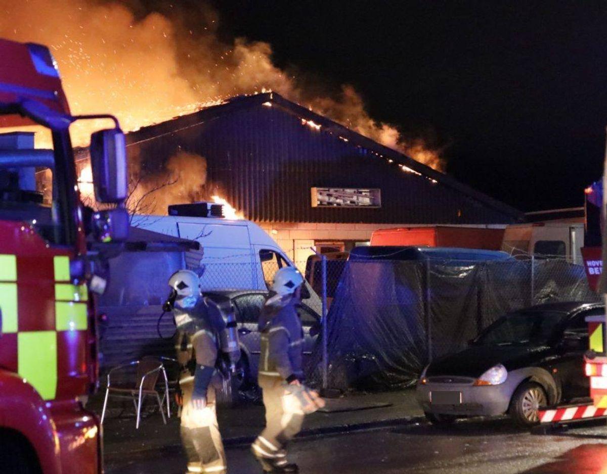 Brandårsagen er ukendt. Foto: Presse-fotos.dk.
