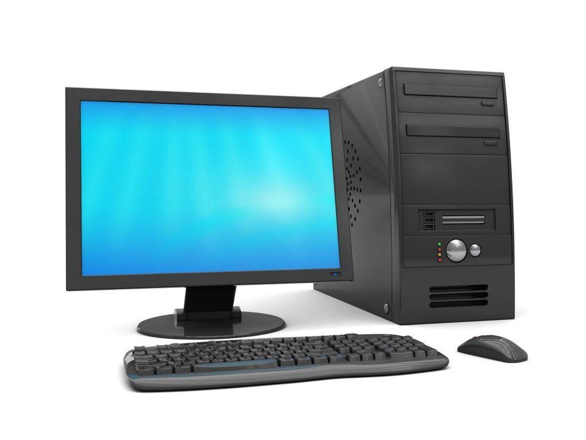 Computere og skærme. Foto: Colourbox.