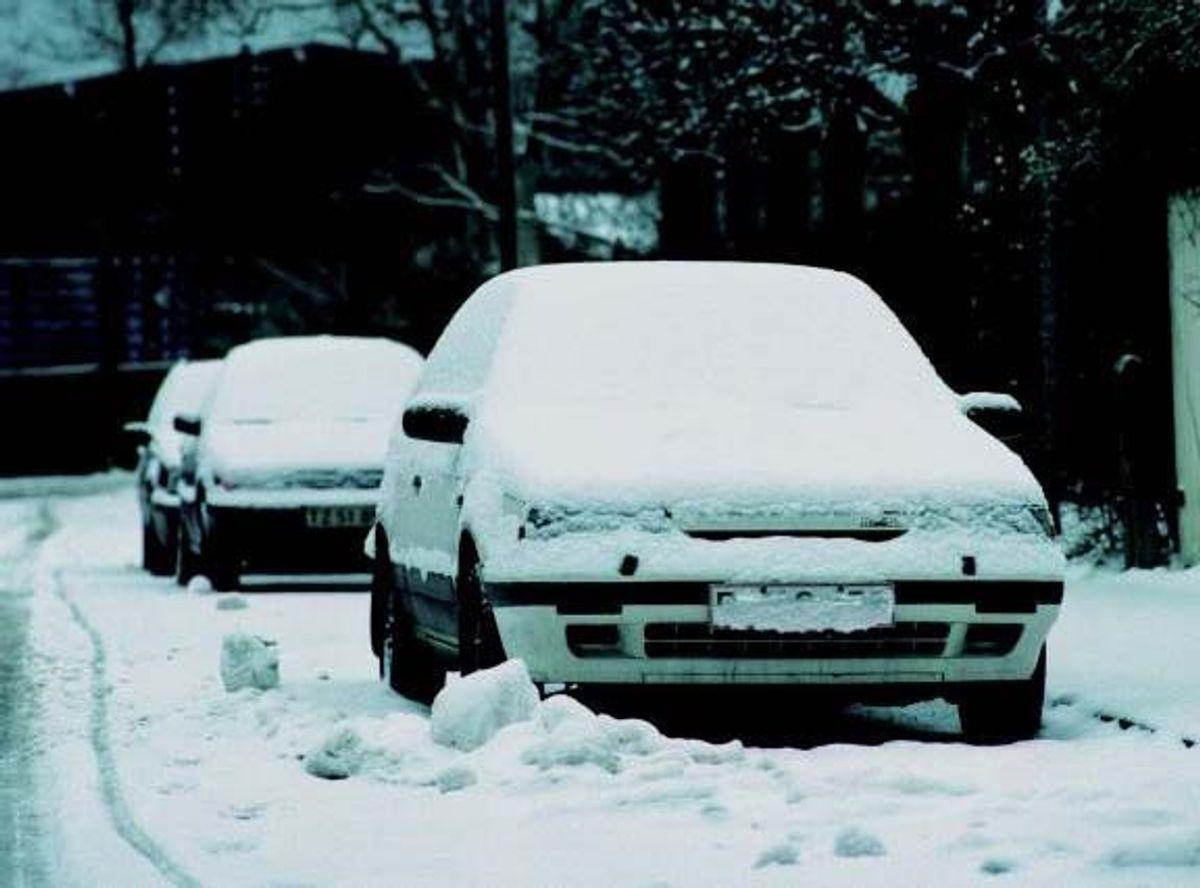 Sørg for at have en lille skovl, snekæder og slæbetov med i bilen. Kilde: Bilmagasinet. Arkivfoto.