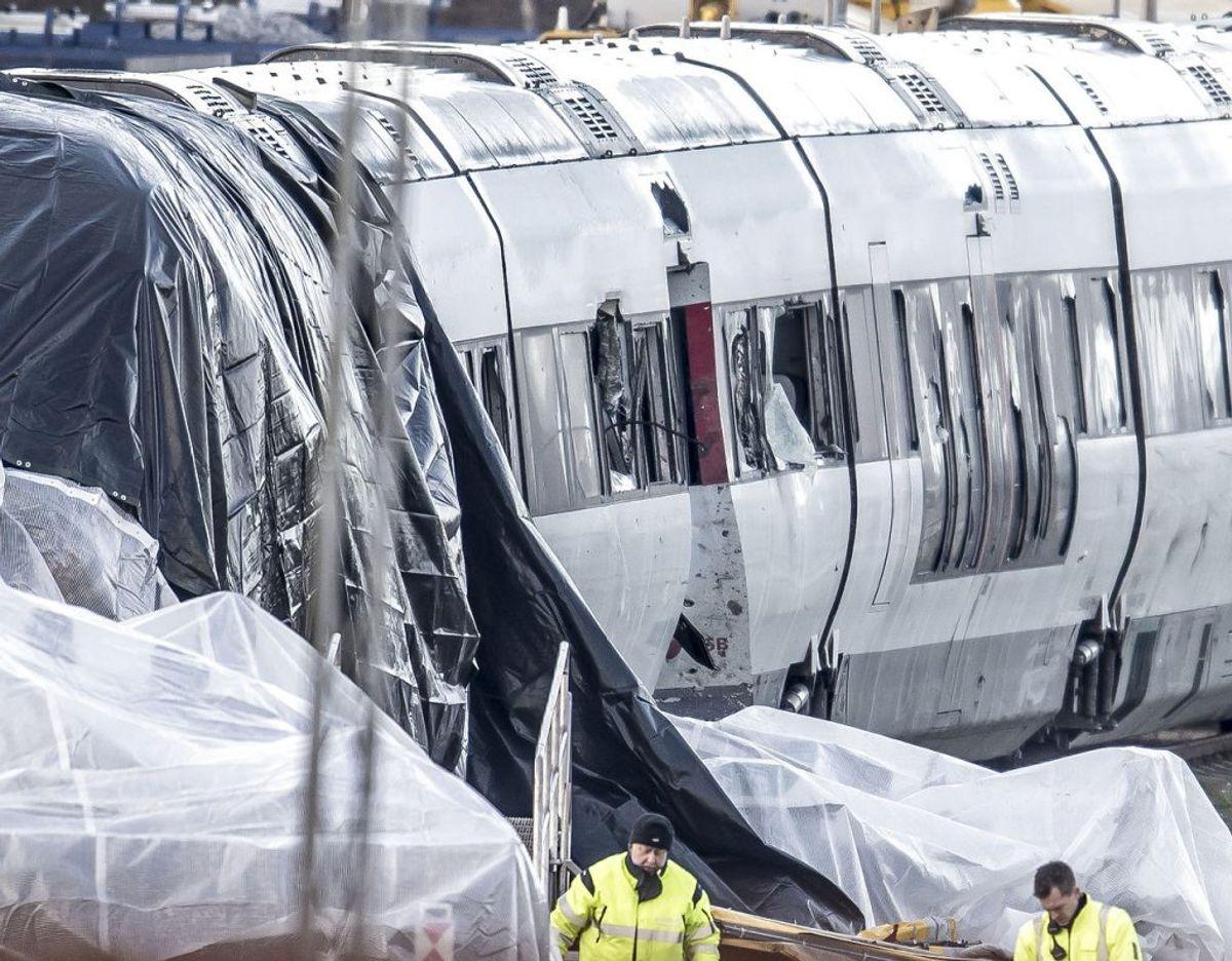 De otte personer, der blev dræbt onsdag morgen i en togulykke på Storebælt, var formentlig alle danskere, oplyser Fyns Politi. Foto: Mads Claus Rasmussen/Ritzau Scanpix.