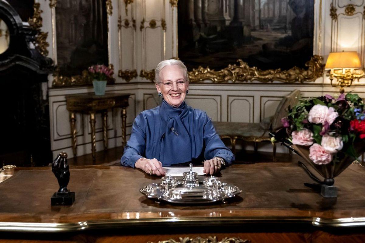 Dronningen holdt mandag nytårstale, men i dag udtrykker regenten sin dybtfølte sorg efter togulykken. Foto: Scanpix