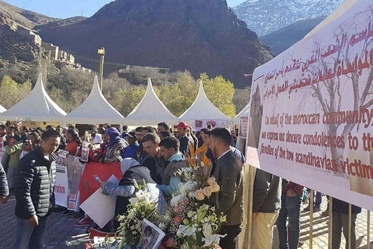 Maren Ueland og Louisa Vesterager Jespersen blev fundet dræbt nær landsbyen Imlil i Marokko. Foto: Løvland, Marianne/Scanpix