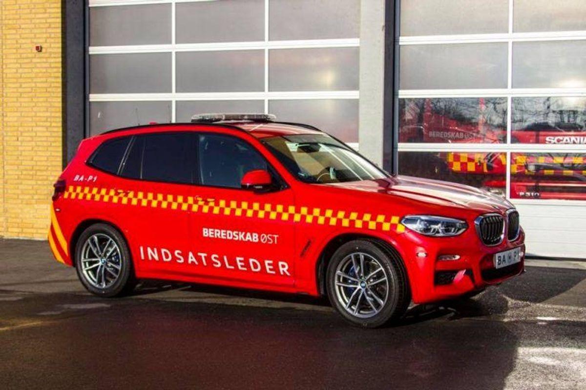 Sådan ser de ud, de nye indsatslederbiler: BMW X3, xdrive 30d. KLIK for flere billeder – fra ud- og indvendig. Foto: Beredskab Øst.
