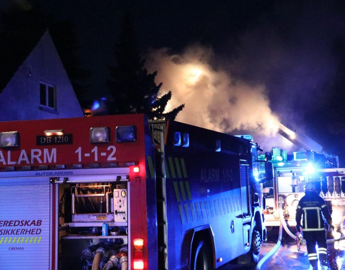 Alarmen lød tidligt om morgenen. Foto: Øxenholt Foto.