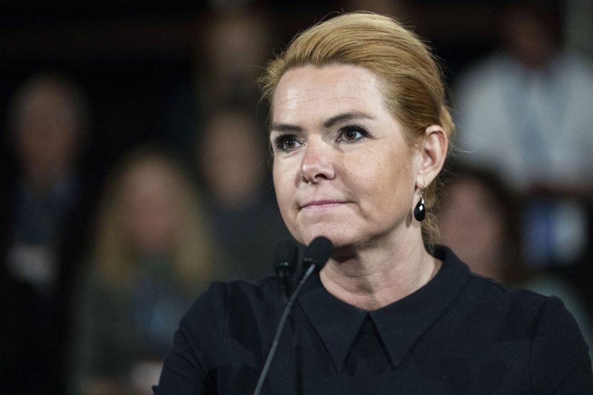 En 28-årig, der er sigtet for blandt andet drab, var timer inden i kontakt med Inger Støjberg. Det oplyser ministeren på sin Facebook-side. KLIK for flere billeder. (Foto: Jens Nørgaard Larsen/Ritzau Scanpix)