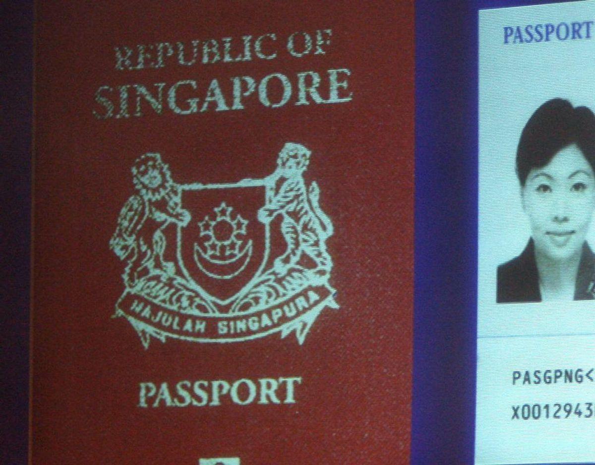 Et pas fra Singapore giver adgang til 189 lande uden visum. Foto: Scanpix