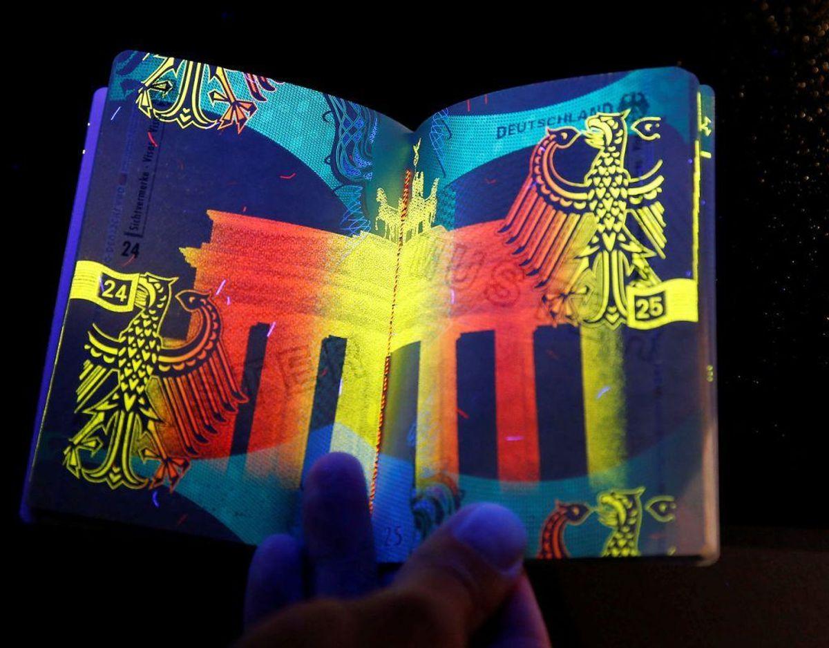Pas fra Tyskland, Frankrig og Sydkorea giver adgang til 188 lande – visumfrit. Foto: Scanpix