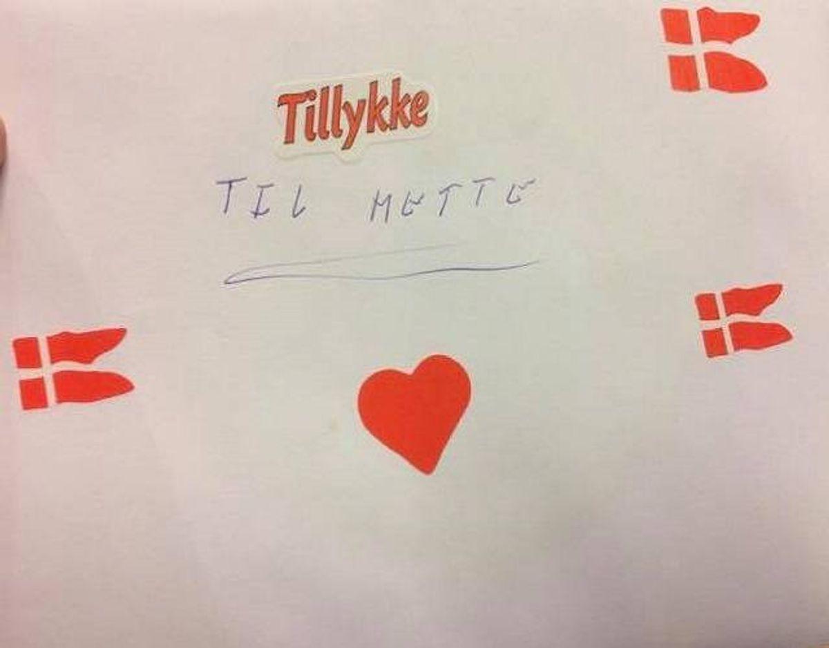 Sådan ser det ud, brevet til Mette. Et brev, der indeholder 'noget af værdi'. Foto: Søren Lange.