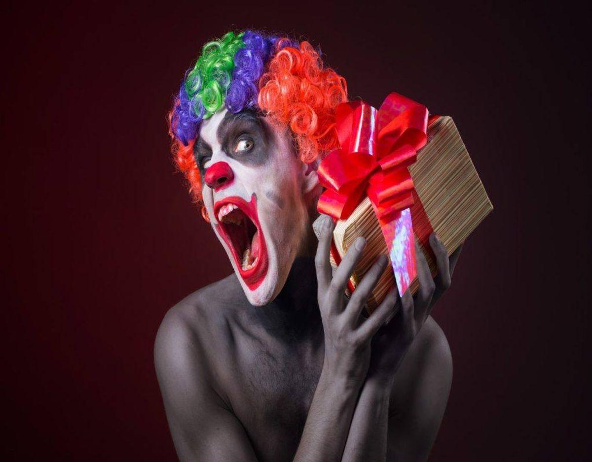 Hvis du er bange for klovne, så er du ikke alene. Jobbet som klovn er det mest uhyggelige i verden. Foto: Colourbox