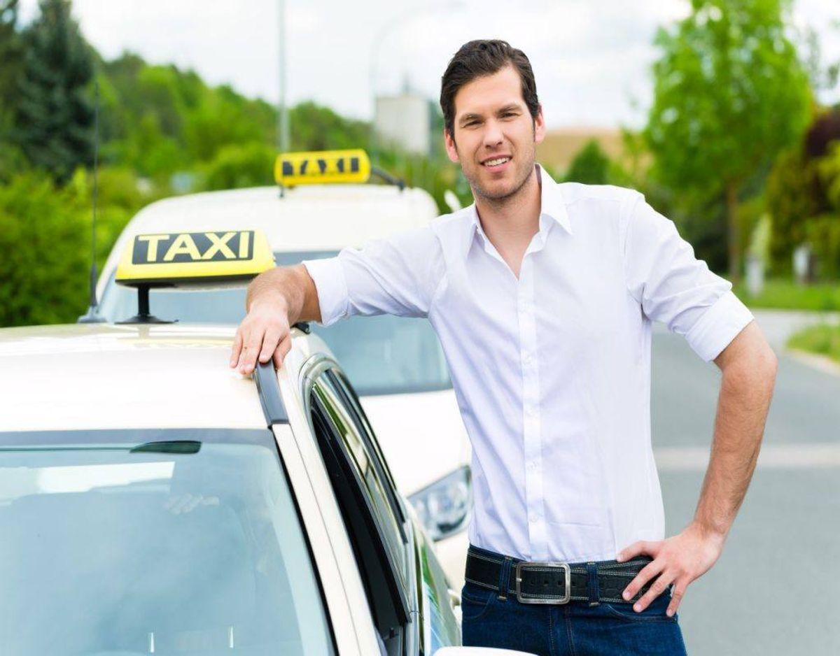 Taxachauffører er det tredjemest uhyggelige job. Foto: Colourbox