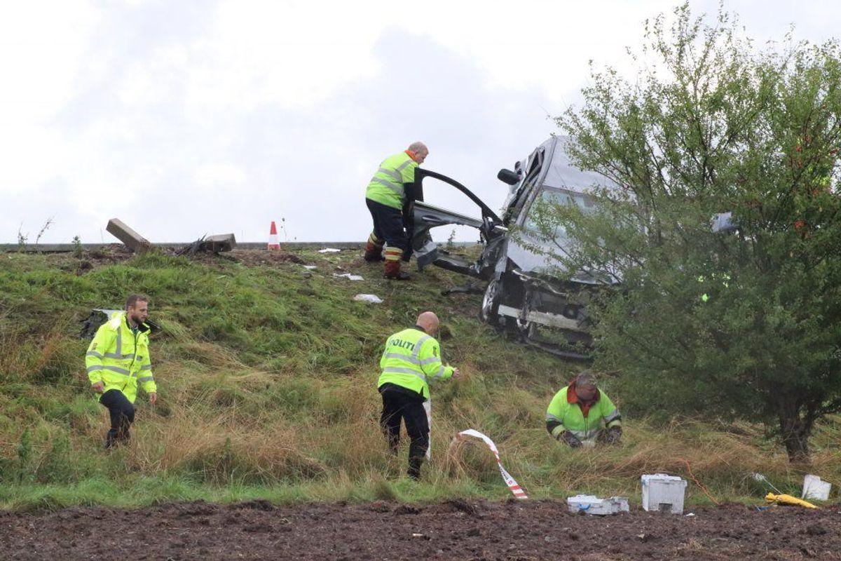 Så voldsomt så det ud 7. september, da betjenten blev dræbt. Nu er der samlet ind til hans efterladte. KLIK for flere billeder. Foto: Øxenholt Foto.