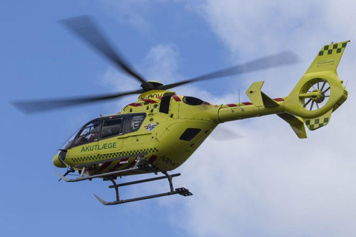 To to mænd er fløjet til Rigshospitalet. Arkivfoto: René Lind Gammelmark