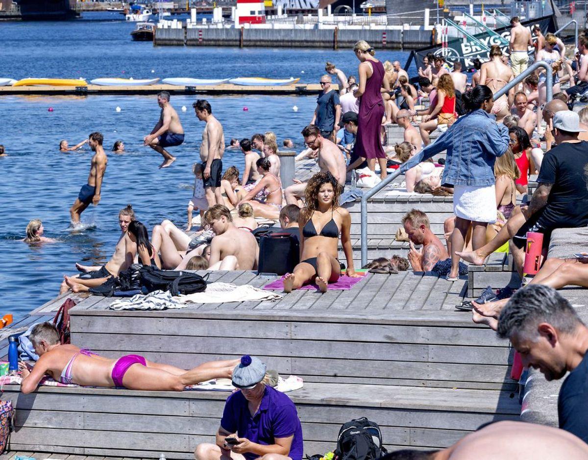 Maj 2018 blev med flere længder den varmeste maj nogensinde målt i Danmark, og det blev tilmed den solrigste måned af alle, der er registrereret herhjemme. Foto: Bax Lindhardt/Ritzau Scanpix.