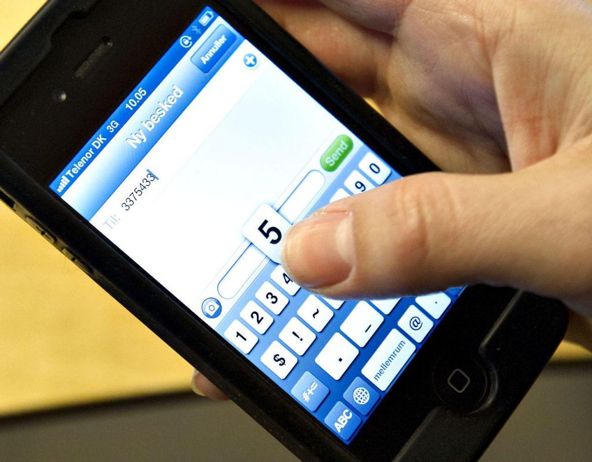 Det er vigtigt at være på vagt – et returopkald til et af de fingerede numre kan ende med en dyr regning. Arkivfoto: Jens Nørgaard Larsen/Scanpix