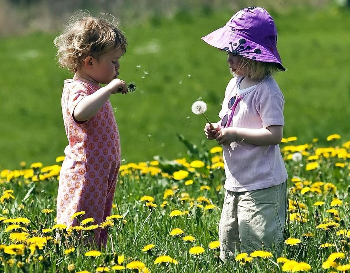 Det er vigtigt, at man bruger et alternativ til solcremen – eksempelvis at give børnene solbeskyttende uv-tøj på – eller bare stikke dem en t-shirt og en bøllehat. Arkivfoto: Preben Madsen/Scanpix