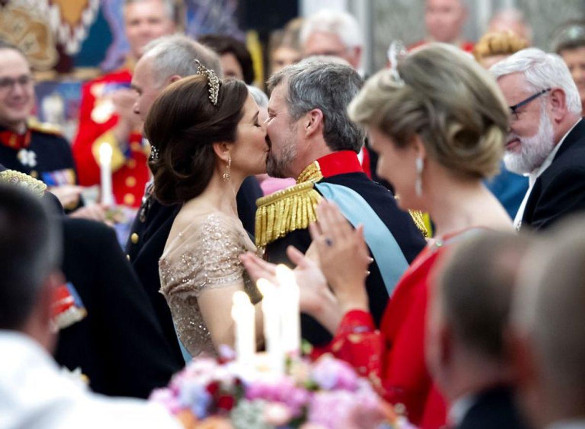 Kronprinsen 50 år: Kronprins Frederik og Kronprinsesse Mary til Gallataffel på Christiansborg Slot lørdag den 26. maj 2018.. (Foto: Keld Navntoft/Ritzau Scanpix)