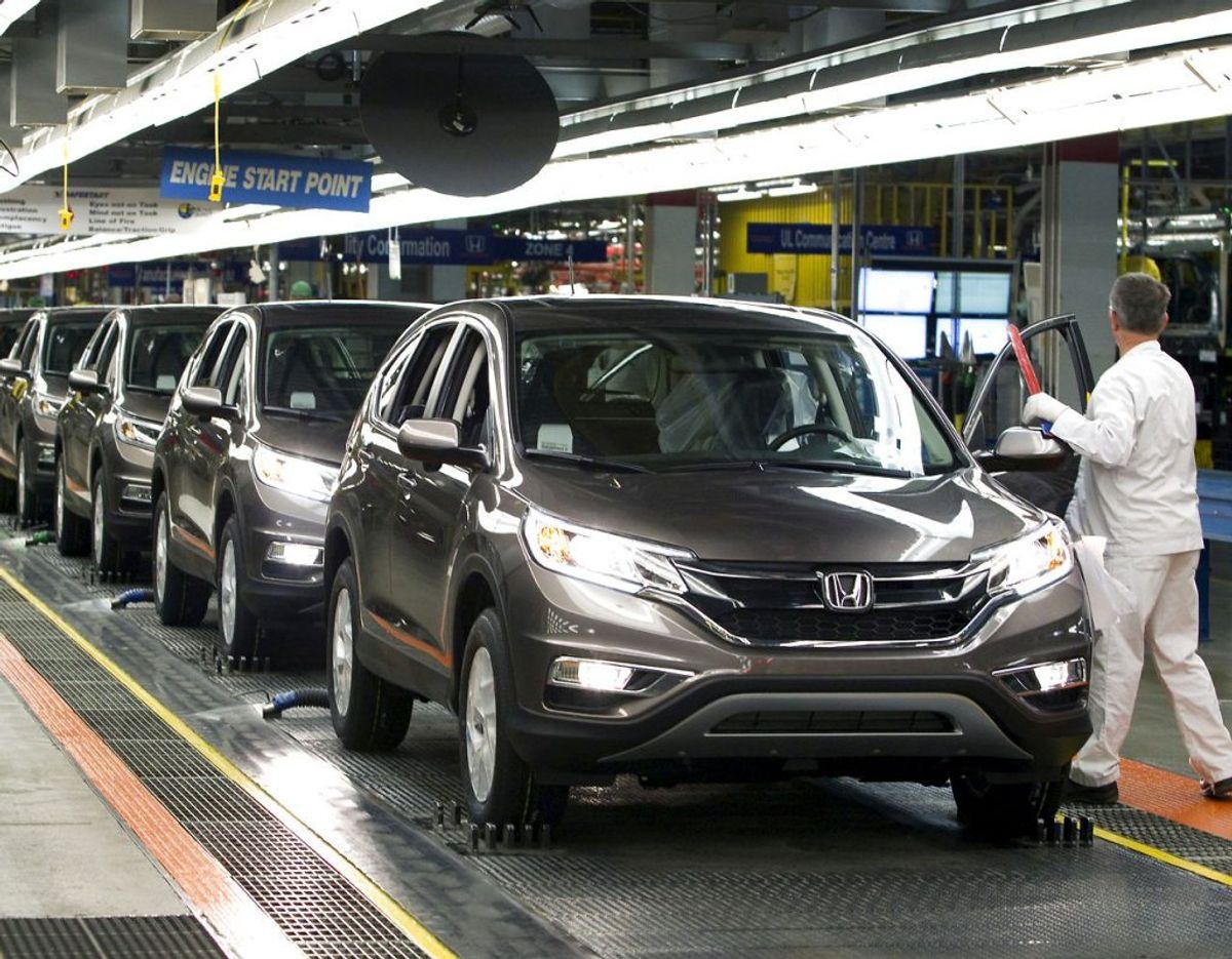 NUMMER: Honda er gået 1,6 procent frem i årets undersøgelse, og det betyder, at den japanske bilfabrikant ligger på sjettepladsen. Foto: Fred Thornhill/Scanpix