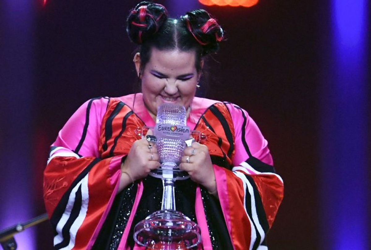 """2018: Netta vandt Eurovision Song Contest med sangen """"Toy"""". Det var fjerde gang, Israel vandt Eurovision. Foto: Francisco LEONG/Scanpix"""