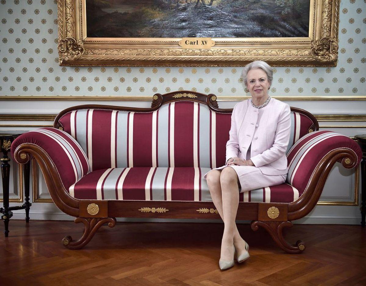 Nummer 11: Prinsesse Benedikte er dronning Margrethes ældste lillesøster. Hun er arving til tronen, fordi hun også nedstammer fra kong Christian 10. Foto: Tariq Mikkel Khan/Scanpix