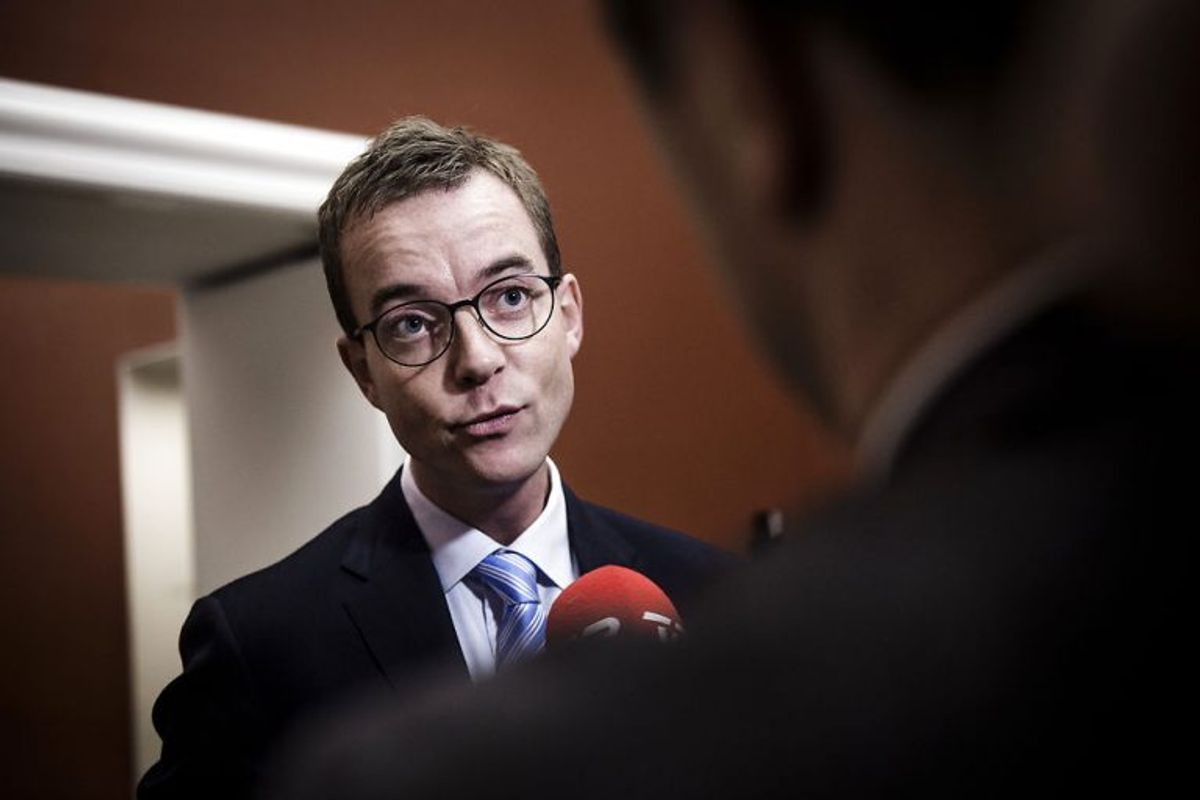 Esben Lunde Larsen (V). (Foto: Thomas Lekfeldt/Scanpix 2018)