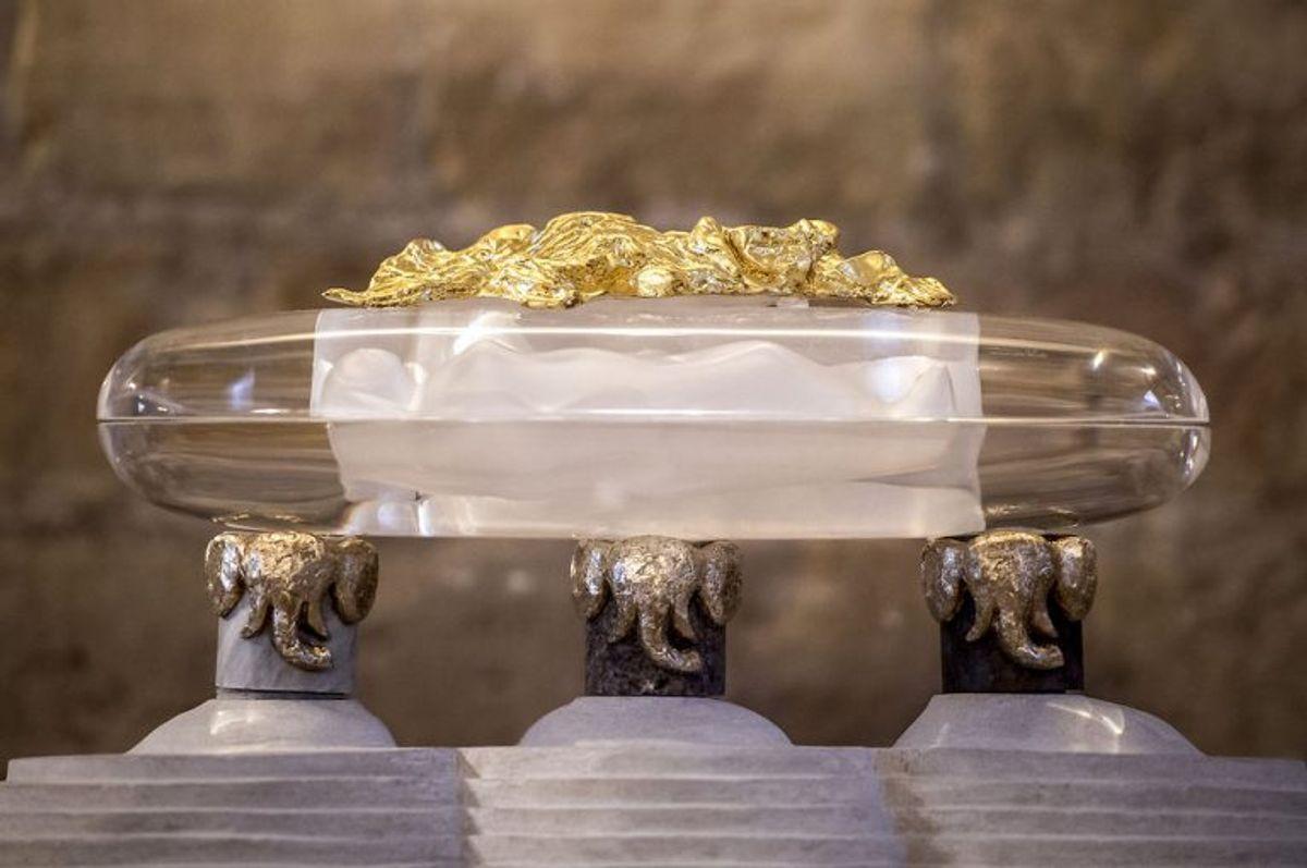 Roskilde Domkirke tirsdag den 20. marts 2018.De sidste dele af glassarkofagen, hvorunder dronning Margrethe skal ligge efter sin død, er blevet leveret. Det skriver BT.. (Foto: Mads Claus Rasmussen/Ritzau Scanpix)