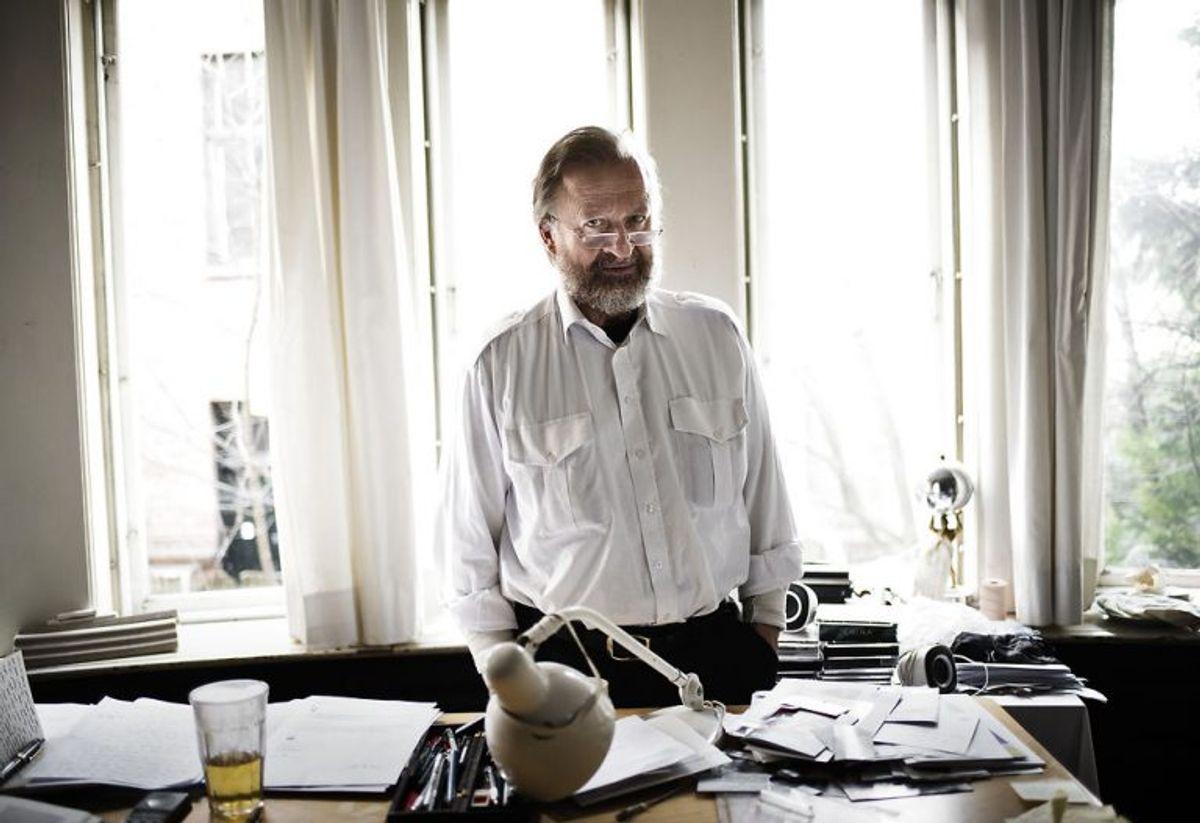 Kunstner Bjørn Nørgaard, der står bag dronningens sidste hvilested. Foto: Mathias Løvgreen Bojesen/Scanpix.