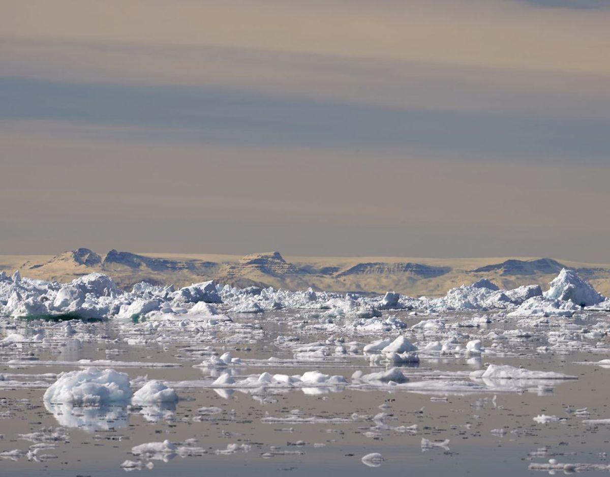 DMI observerer is-udviklingen i de grønlandske farvande. Foto: Scanpix