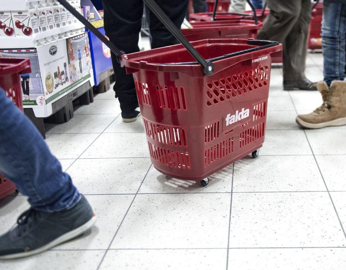 En mand gik amok i en Fakta-butik. Foto: Scanpix
