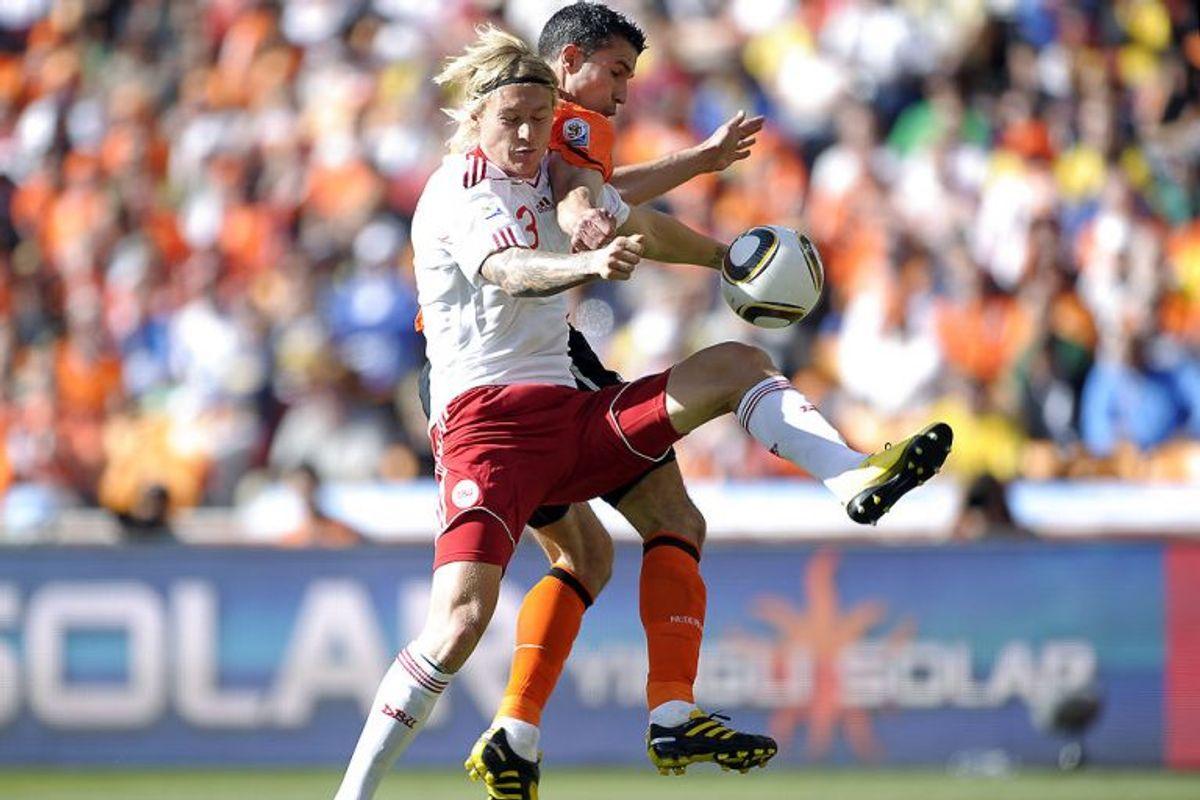 """I 2010 var det Nephew, der med """"The Danish Way To Rock"""" forsøgte at skubbe drengene fremad. Det lykkedes ikke. I Sydafrika går Danmark ikke videre fra indledende, da vi """"kun"""" vinder den ene af de tre kampe. Arkivfoto: Liselotte Sabroe/Scanpix"""