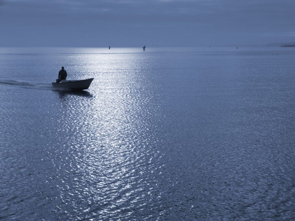 Man må ikke sprede asken over søer. Det skal være på havet. Foto: Scanpix