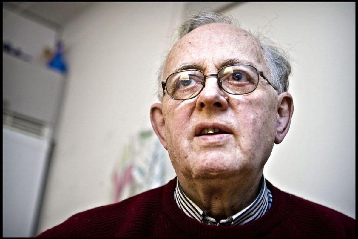 Den firedobbelte politimorder Palle Sørensen i sit hjem i Valby den 11. november 2007. Palle Sørensen, der blev dømt for drabet på fire betjente, er død. Han blev 90 år. KLIK for flere billeder. (Foto: Nils Meilvang/Scanpix 2018)
