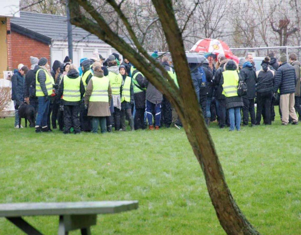 500 frivillige ledte lørdag efter Dorte Larsen. Foto: Presse-fotos.dk.