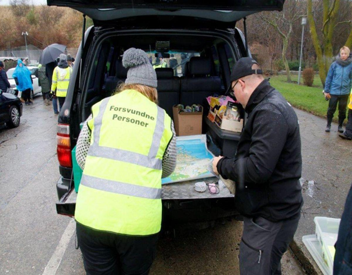 500 frivillige ledte lørdag efter Dorte Larsen. KLIK for billeder af Dorte og de støvler, hun havde på, da hun forsvandt. Foto: Presse-fotos.dk.