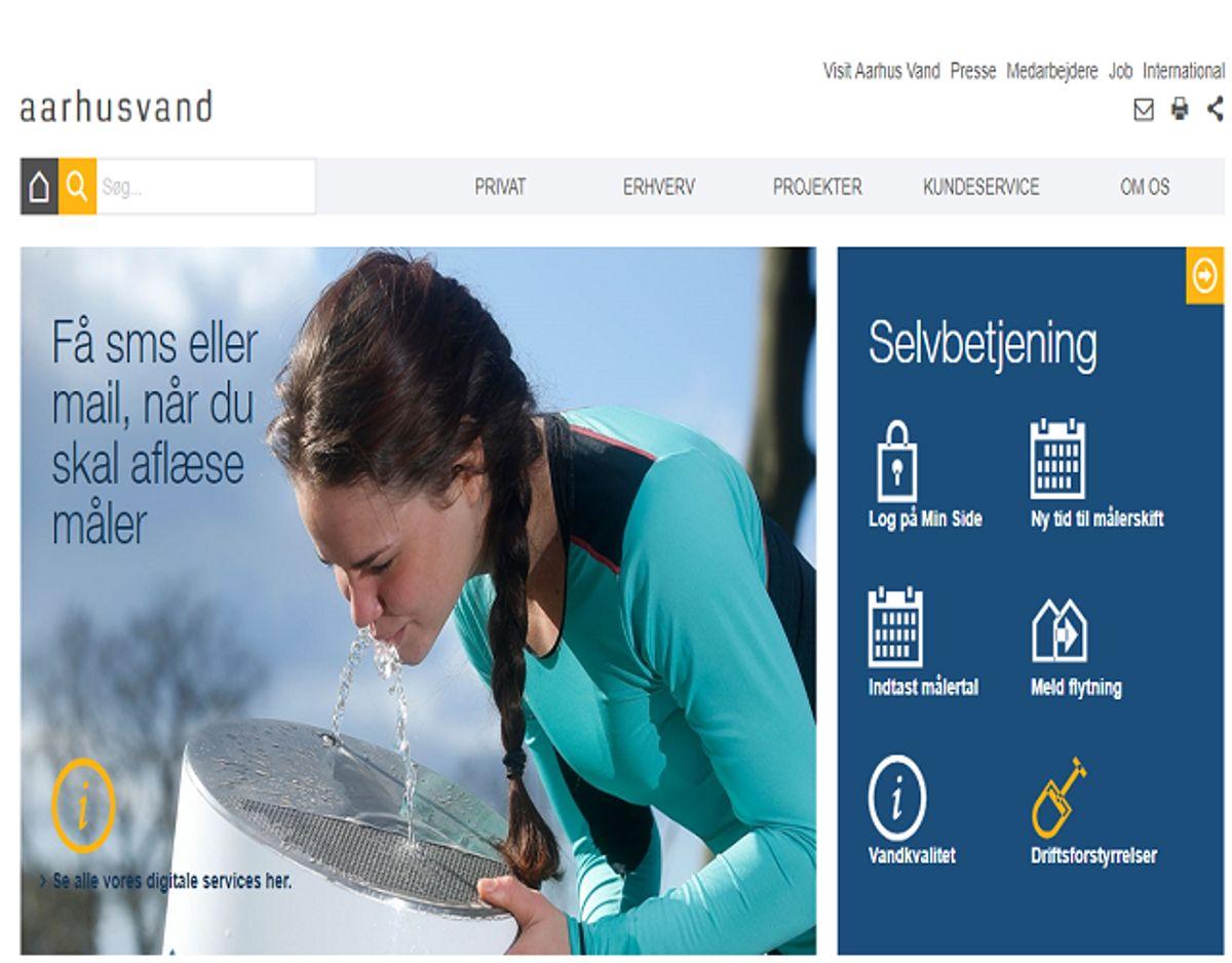 Tjek dit vands hårdhed på vandværkets hjemmeside. Foto: Screenshot.