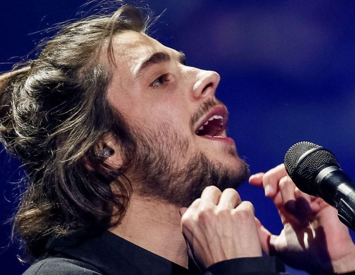 """2017: Portugal vandt for første gang Eurovision Song Contest. Salvador Sobrals ballade """"Amar pelos dois"""" gik rent ind i Europa. Foto: Gleb Garanich/Scanpix (Arkivfoto)"""