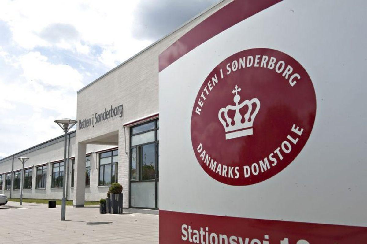 Det var her ved Retten i Sønderborg, hvor parret var en del af den noget bizarre sag. (Foto: Claus Fisker/Scanpix 2010)