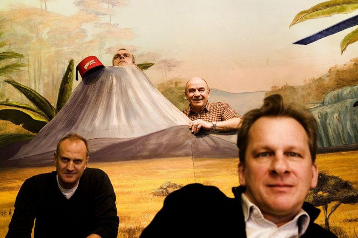 Henrik Koefoed er kendt fra Ørkenens Sønner. Fra venstre: Søren Pilmark, Niels Olsen, Asger Reher og Henrik Koefoed. Foto: Søren Bidstrup/Scanpix (Arkivfoto)