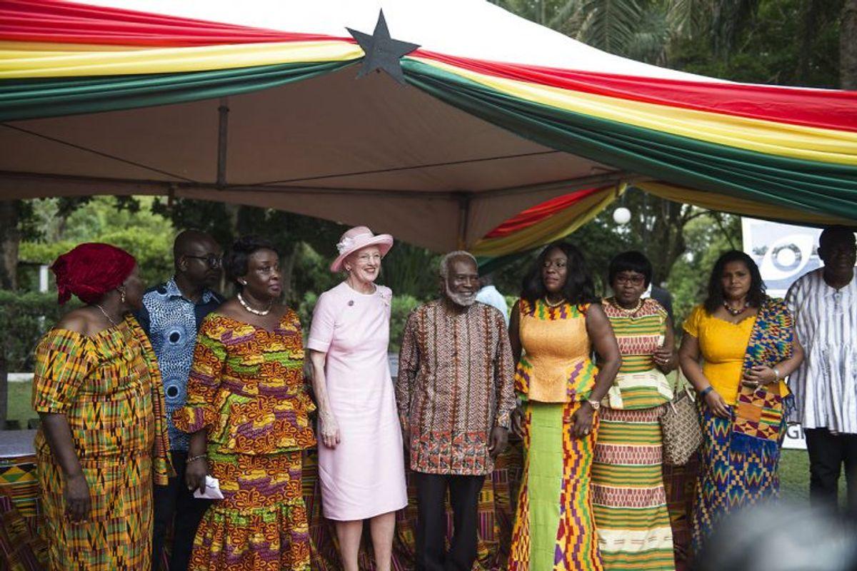 Dronning Magrethe besøger her Christiansborg Slot i Ghana, torsdag den 23. november, 2017. Foto: Sarah Christine Nørgaard/Scanpix
