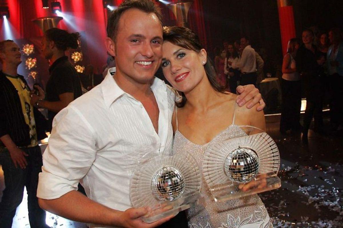 Mia Lyhne dansede sig til sejren med Thomas Evers Poulsen i første sæson af Vild med dans. Foto: Mogens Flindt/Scanpix (Arkivfoto)