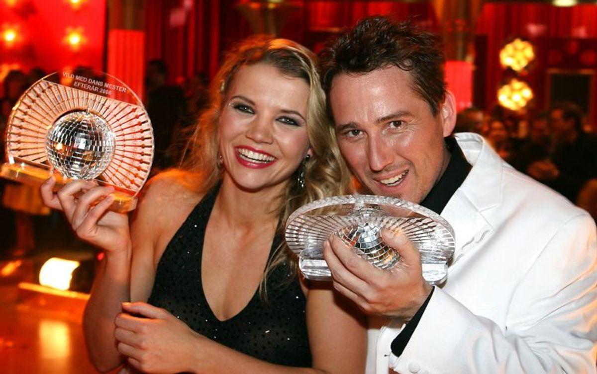 """Den OL-vindende håndboldspiller Christina Roslyng vandt """"Vild med dans"""" i 2006 med partneren Steen Lund. Foto: Mogens Flindt/Scanpix (Arkivfoto)"""