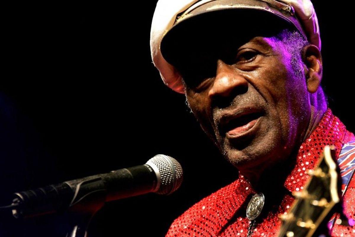 Den legendariske musiker og pioner inden for rock 'n roll Chuck Berry blev fundet død i sit hjem den 18. marts. Han blev 90 år. Foto: DESIREE MARTIN/Scanpix (Arkivfoto)