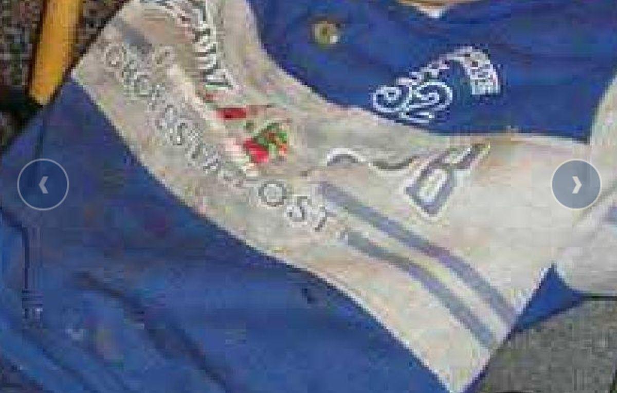 Kan du genkende denne sweatshirt? Foto: Europol.