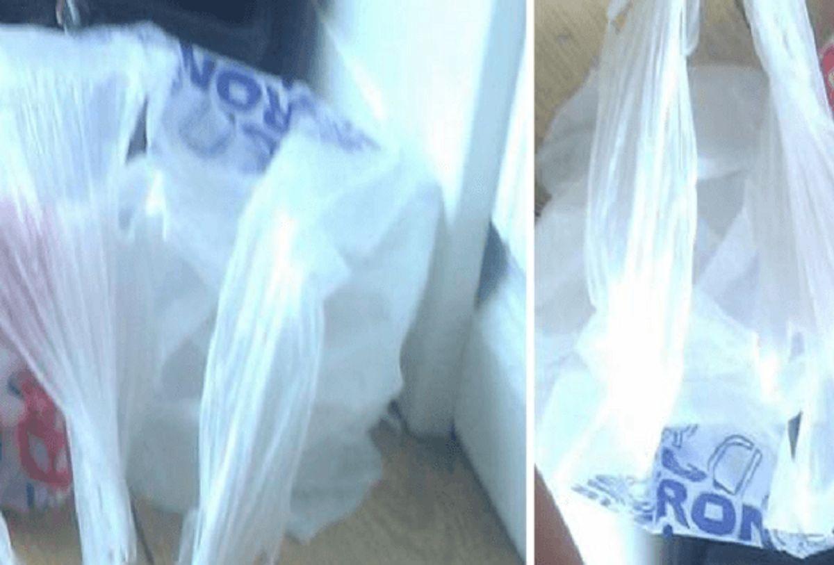 Kan du genkende trykket på disse plastiskposer? Foto: Europol.
