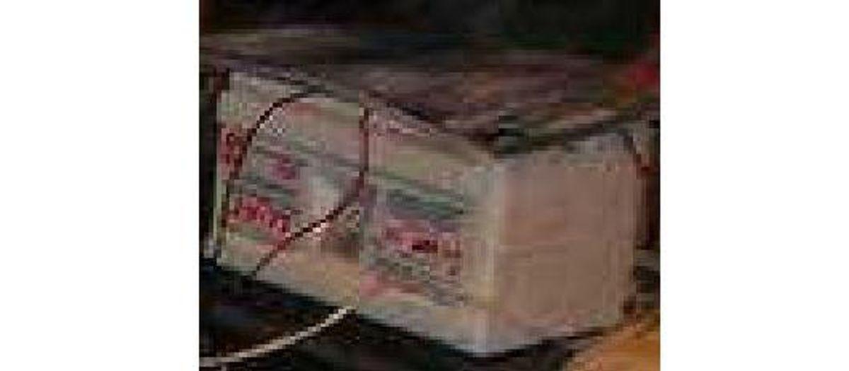 Ikke meget om dette; det skulle dog være en del af 'noget elektronisk'. Foto: Europol.