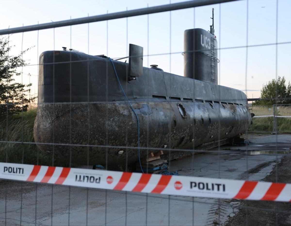 Ubåden UC3 Nautilus, som Kim Wall sejlede ud i sammen med Peter Madsen, efter den blev hævet fra havets bund. Foto: Steven Knap/Droto.dk.